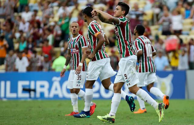 Pedro marcou o gol da vitória tricolor. Garoto vem evoluindo muito nesta temporada.