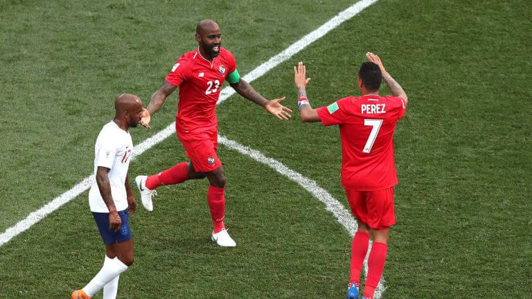 Foi numa derrota por seis gols, mas nada impediu a alegria do povo panamenho de comemorar o gol de Baloy
