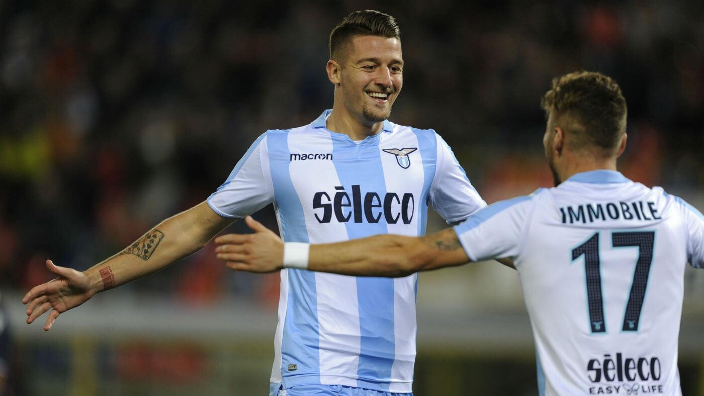 Milinkovic-Savic e Cito Imobile são as esperanças para levar a Lazio para a Liga dos Campeões, apesar da saída de De Vrij.