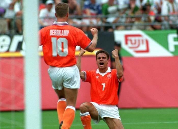 Bergkamp e Overmars eram os principais jogadores da seleção holandesa em 1994