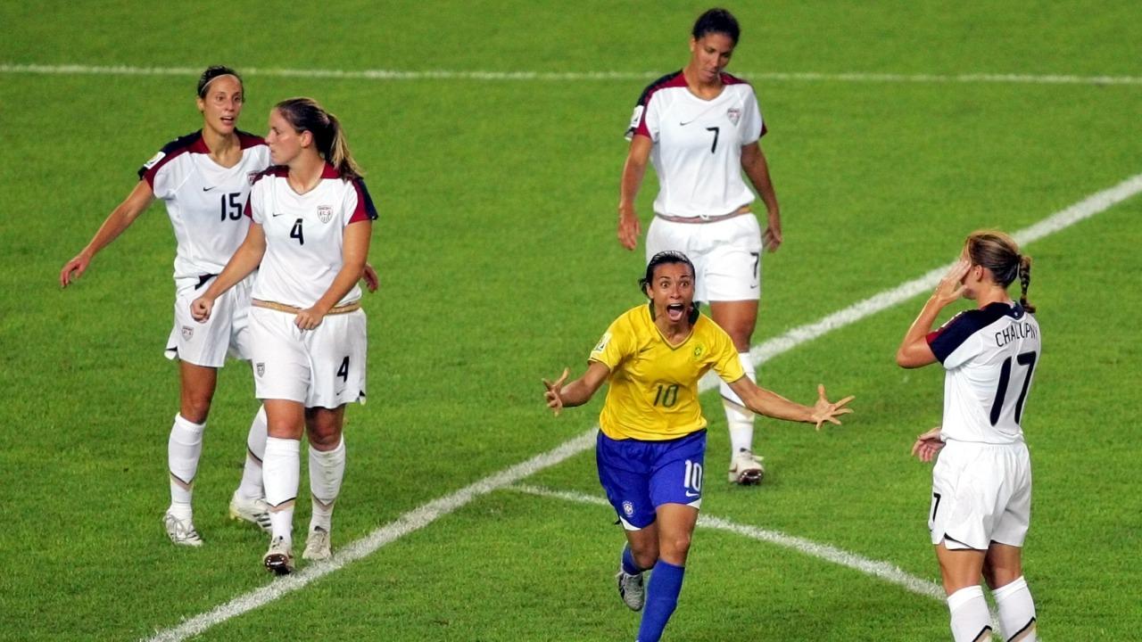 O dia que os EUA assistiram o show da melhor jogadora de todos os tempos, a Marta