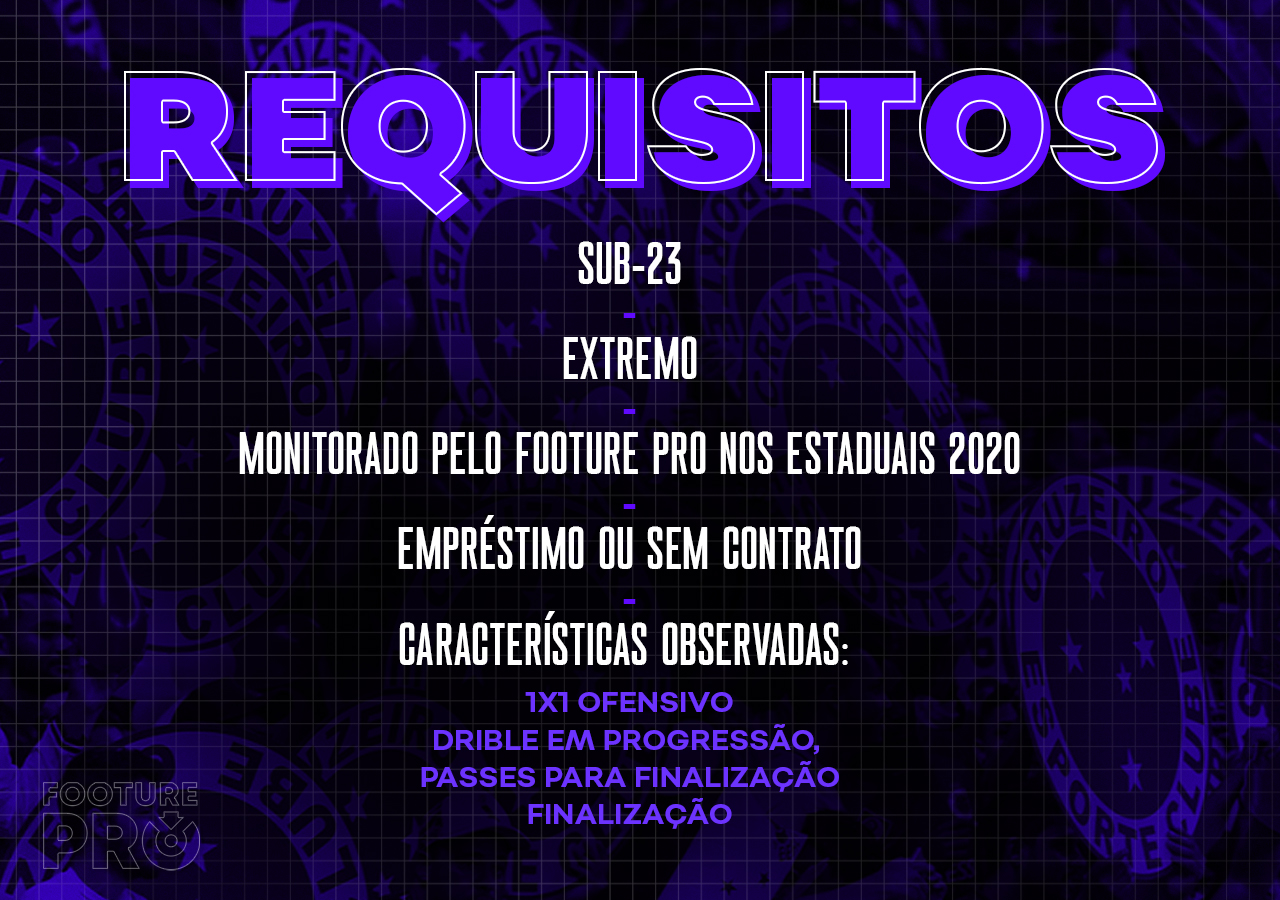 Os requisitos para o ponta do Cruzeiro