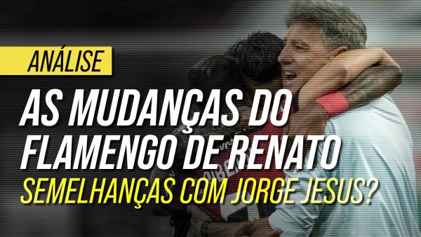 As mudanças táticas do Flamengo com Renato Gaúcho: semelhanças com Jorge Jesus?