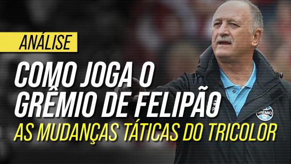 Como joga o Grêmio de Felipão: as mudanças táticas e o estilo do Tricolor