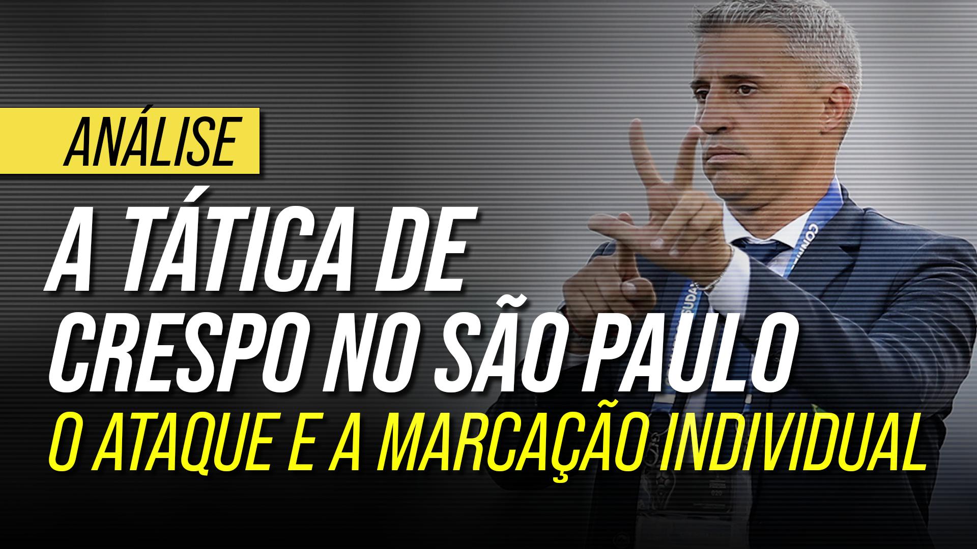 A tática de Crespo no São Paulo: a força da marcação individual e o ataque