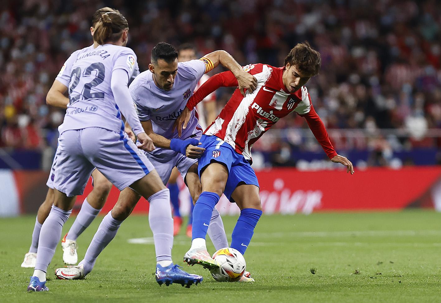A disparidade entre Atlético de Madrid e Barcelona